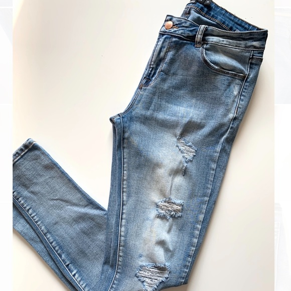 Harlow Mid Rose Skinny Jeans